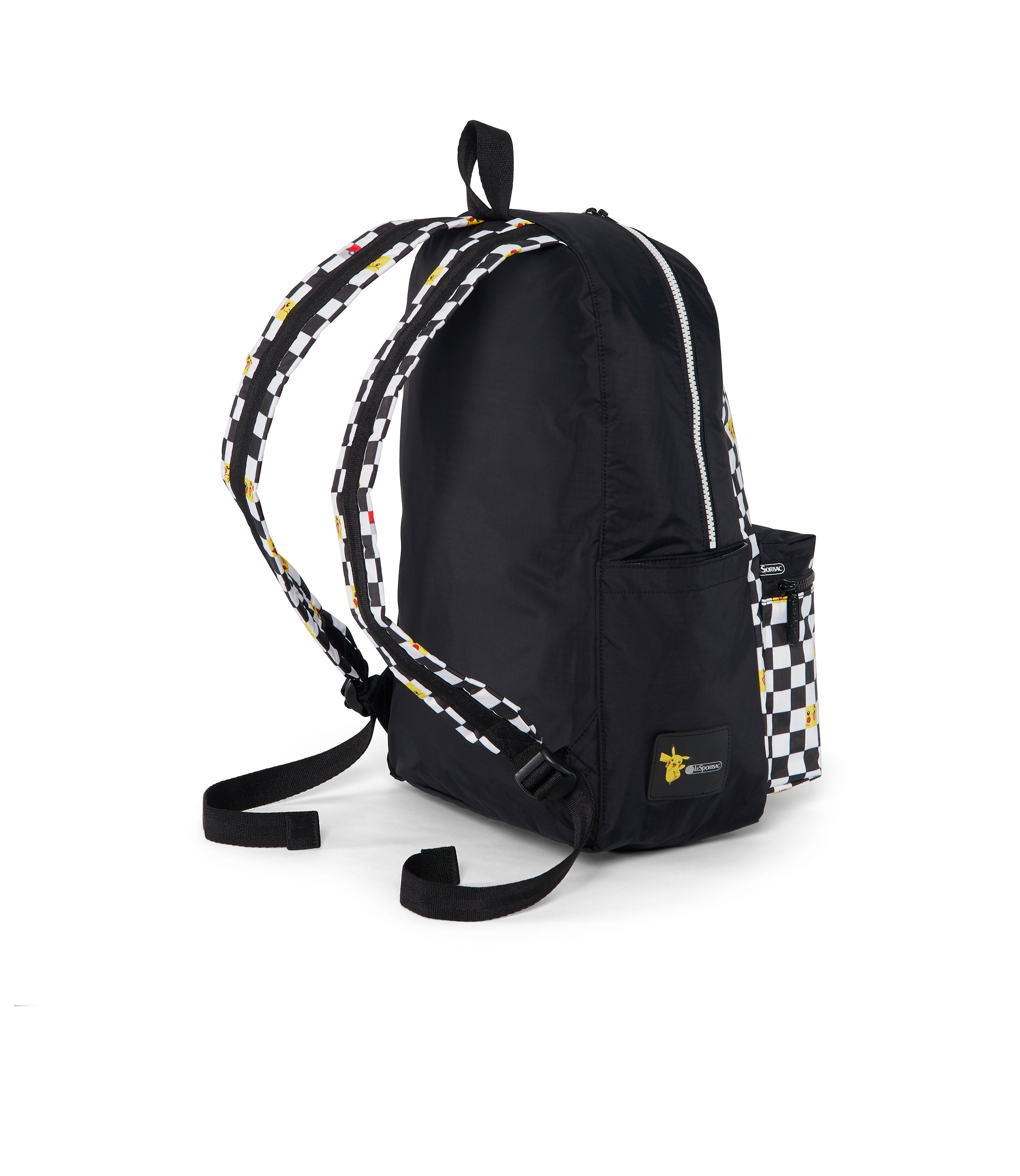 Pokémon XL Carson Backpack-LeSportsac-Large-Bookbag-checkered-side