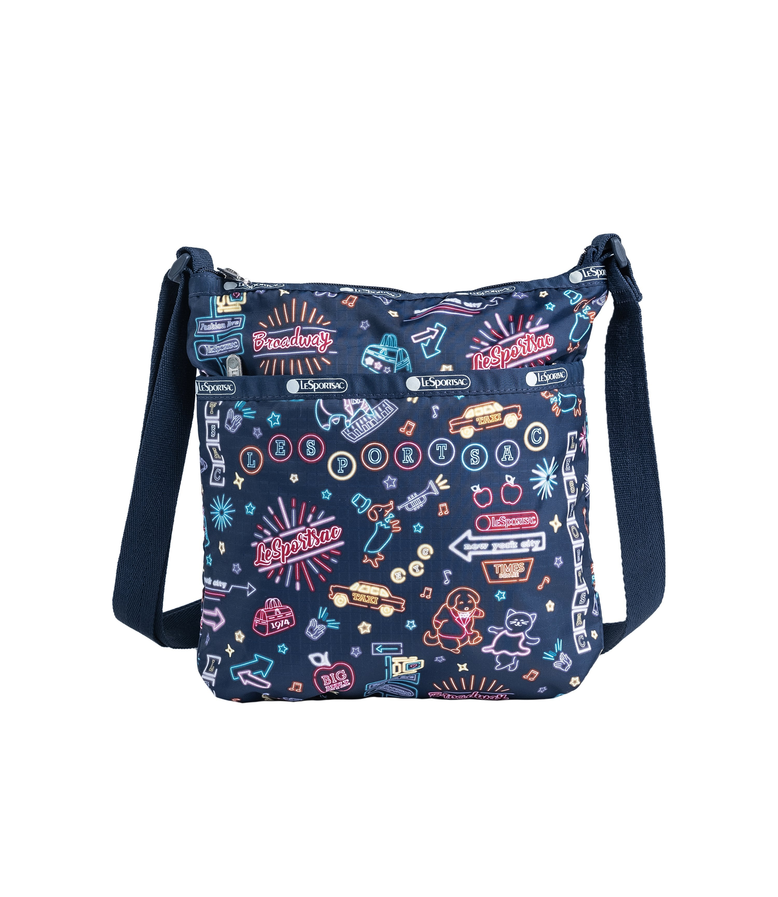 LeSportsac - Handbags - On-The-Go Crossbody - Neon Nights print