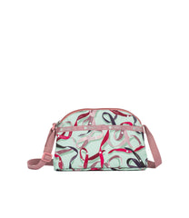 LeSportsac - Handbags - Half Moon Crossbody - Ribbons print