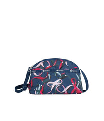 LeSportsac - Handbags - Half Moon Crossbody - Ribbons Navy print