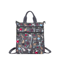 LeSportsac - Backpacks - 3-Zip Convertible Backpack - Yarn Pals print