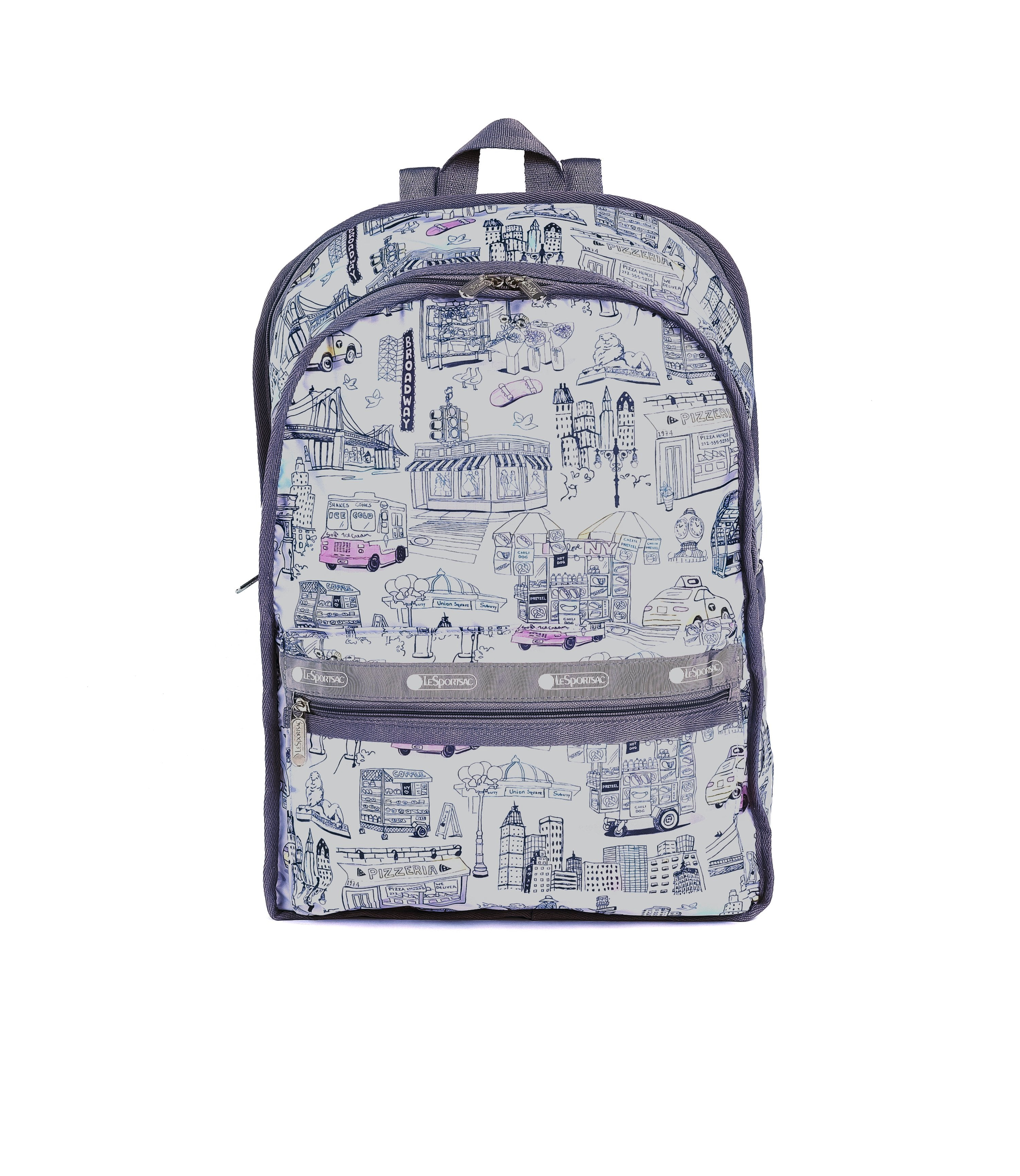 LeSportsac - Classic Large Backpack - Backpacks - Manhattan Tour print