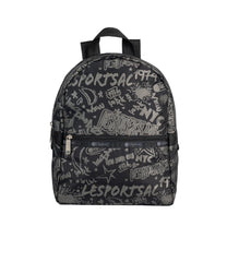 LeSportsac - Backpacks - Small Carrier Backpack - LeSportsac City Script print