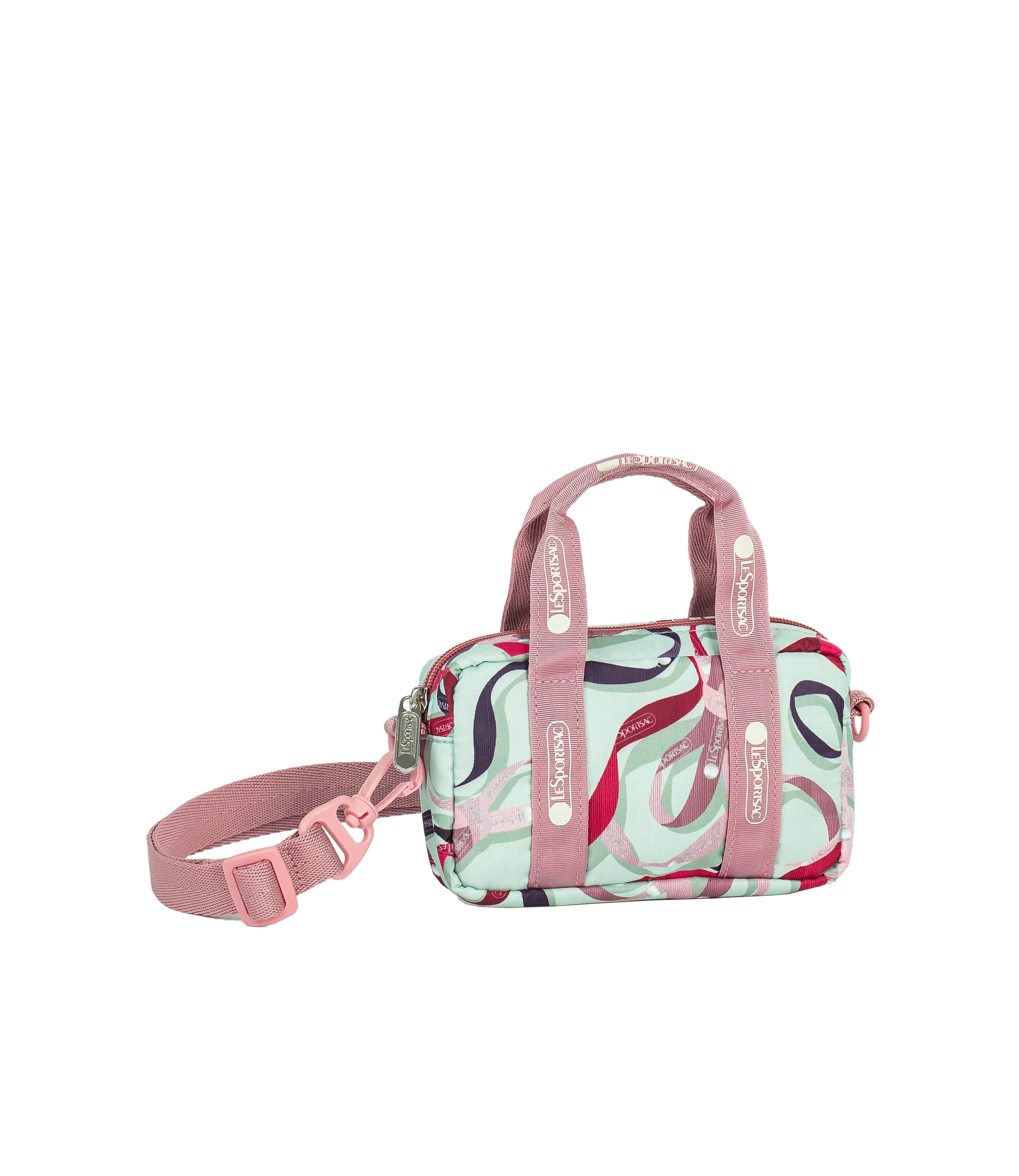 LeSportsac - Handbags - Crossbody Box Belt Bag - Ribbons print