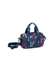 LeSportsac - Handbags - Crossbody Box Belt Bag - Ribbons Navy print