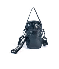 LeSportsac - Mini Phone Crossbody - Handbags - Jet Crinkle Patent