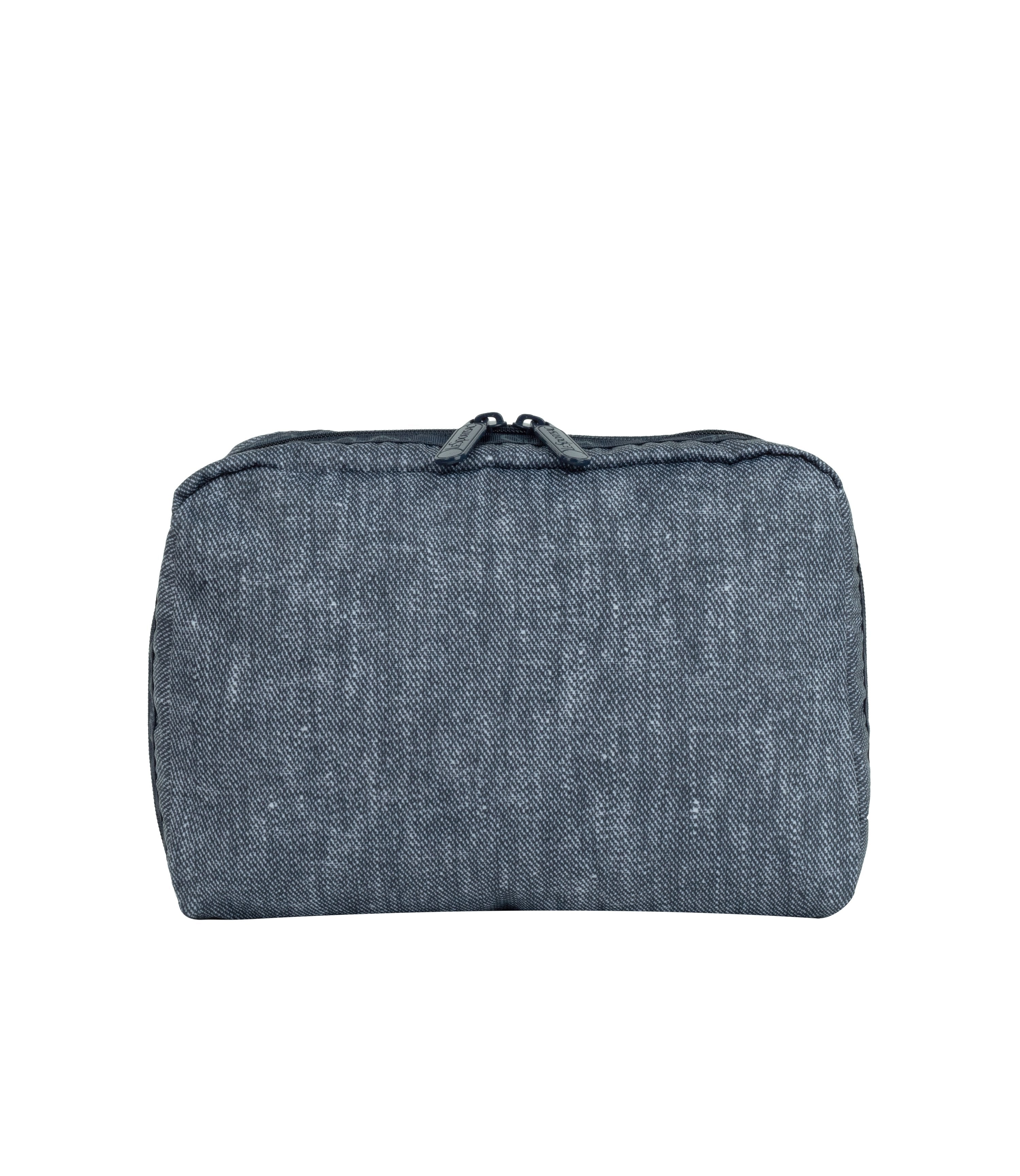 LeSportsac - Accessories - ReCycled XL Rectangular Cosmetic - Eco Chambray Blue