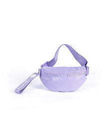 LeSportsac - Rounded Belt Bag - Accessories - Purple Crinkle Patent