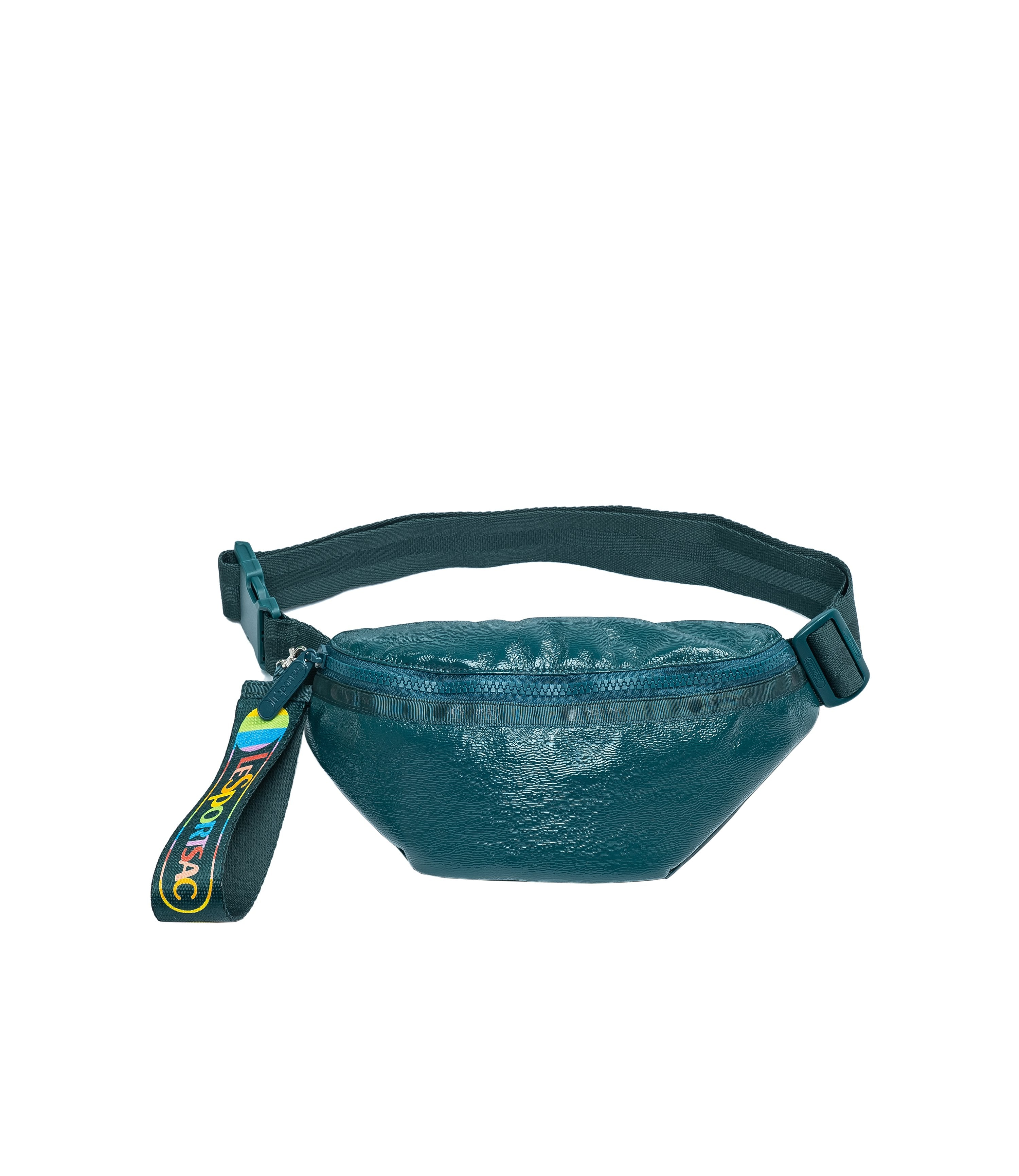 LeSportsac - Accessories - Rounded Belt Bag - Emerald Crinkle Patent
