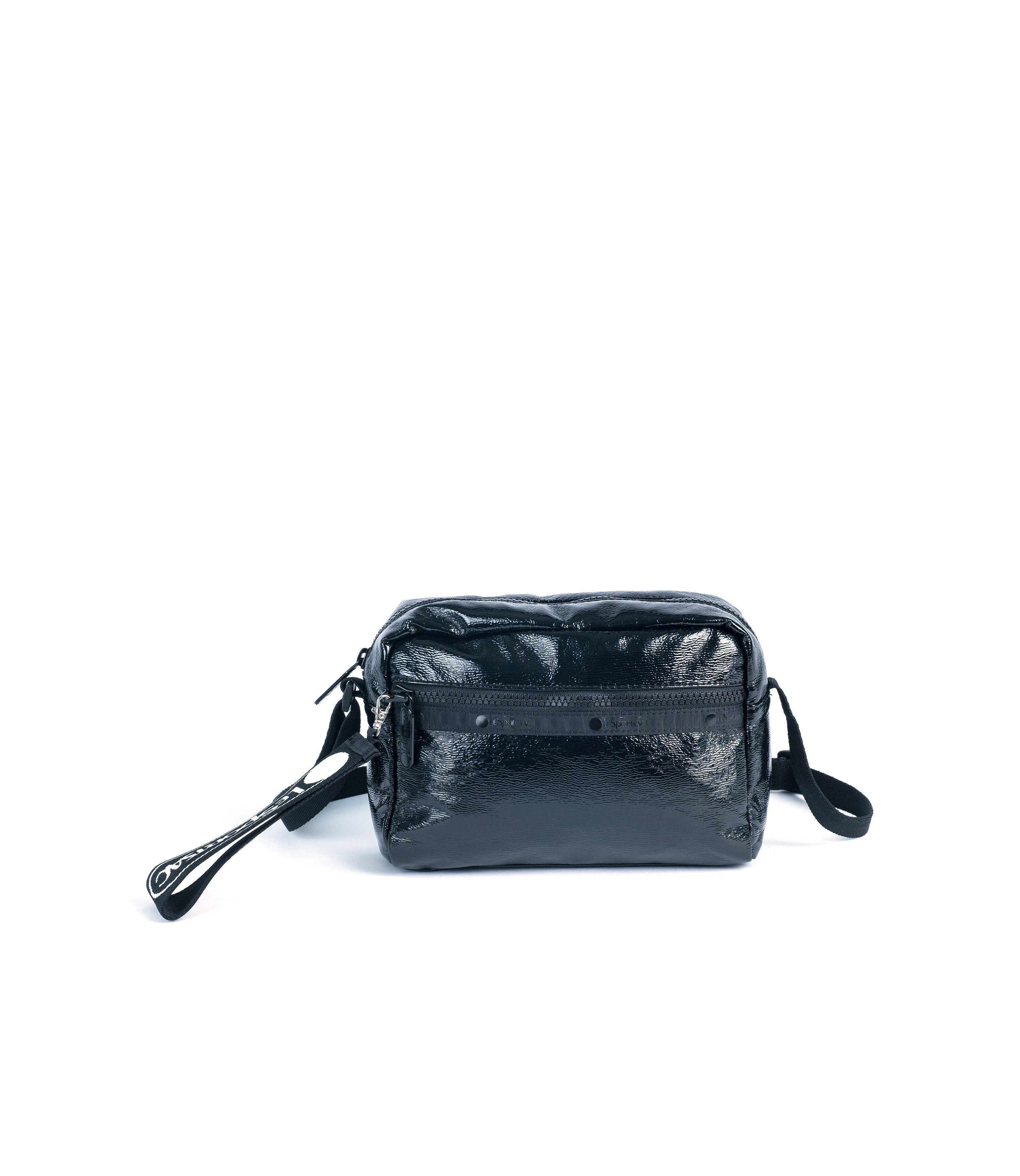 LeSportsac - Daniella with Puller - Handbags - Jet Crinkle Patent