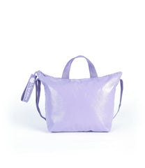 LeSportsac - Easy Tote with Puller - Totes - Purple Crinkle Patent