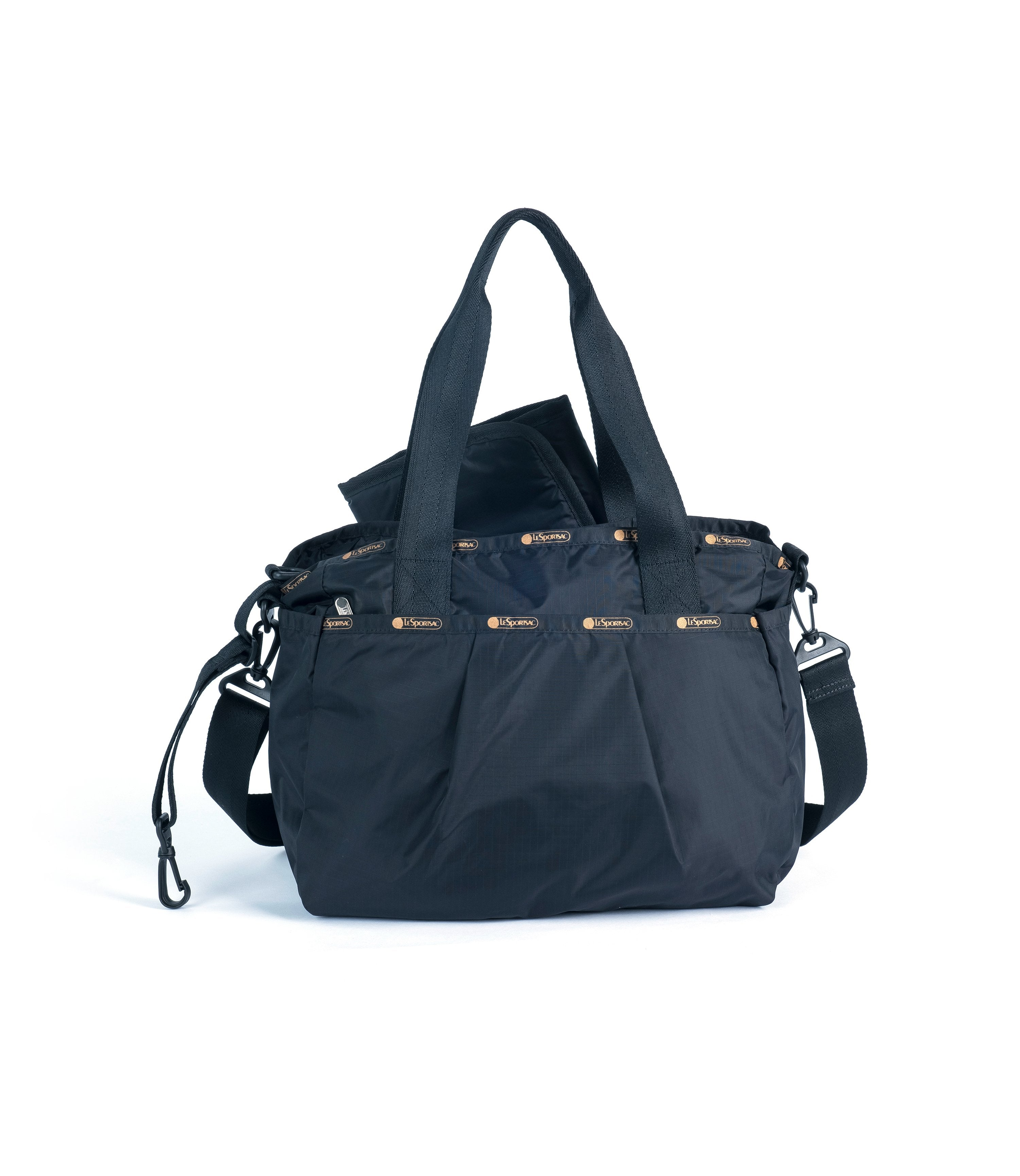 LeSportsac - Pleated Posey Bag - Handbags - Black Glitz