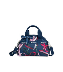 LeSportsac - Handbags - Bow Mini York Satchel - Ribbons Navy print
