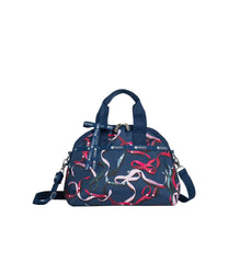 LeSportsac - Handbags - Bow York Satchel - Ribbons Navy print