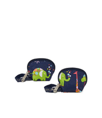 Pacifier Pouches, Accessories and Cosmetic Bag, Lesportsac, Pacifier Pod, Zoo Cute Classic