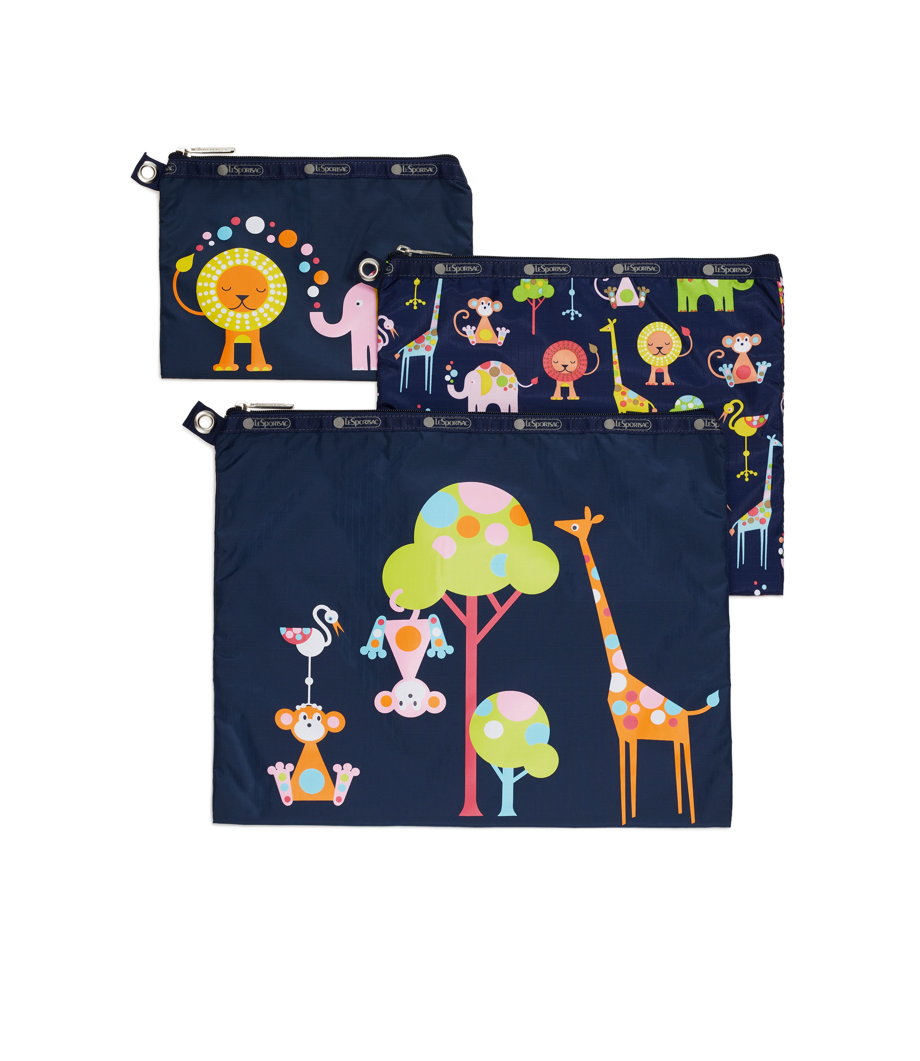 Multi Pouch Set Zoo Cute Cl Lesportsac 2
