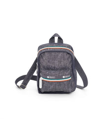 Adaptable Mini Backpacks, Water Resistant Backpack, Convertible, LeSportsac, Sporty Denim print