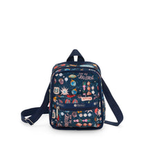 Adaptable Mini Backpack, LeSportsac, Crossbody and Accessories, Fannypack, Blue, Little Jewels Print