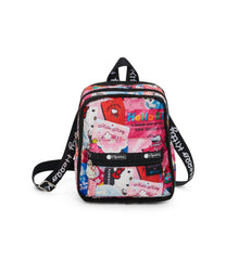Adaptable Mini Backpack, Water Resistant Backpacks, Convertible, LeSportsac, Hello Kitty Collector print