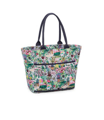 LeSportsac - Traveling EveryGirl Tote - Totes - Exclusive! Aloha Market print - Back View