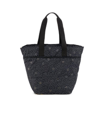 Large Elle Tote, Nylon Tote Bags, Carry-on, LeSportsac, Black Sand print