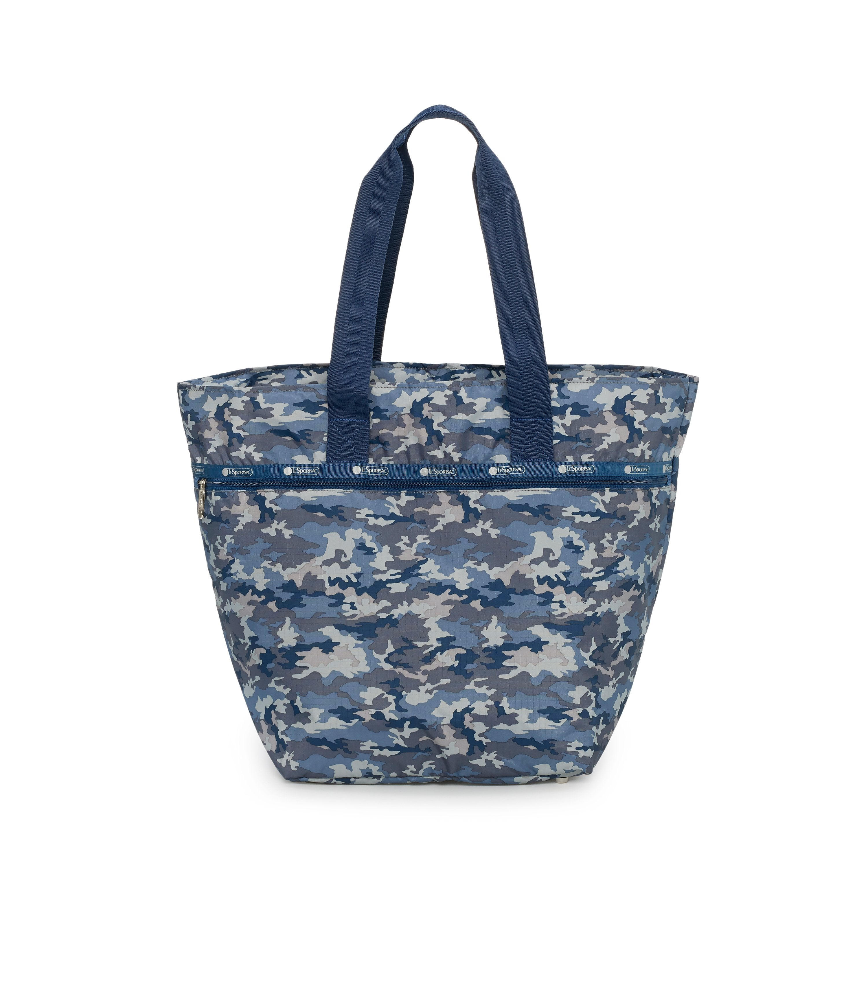 Large Elle Tote, Nylon Tote Bags, Carry-on, LeSportsac, Camo Blues print