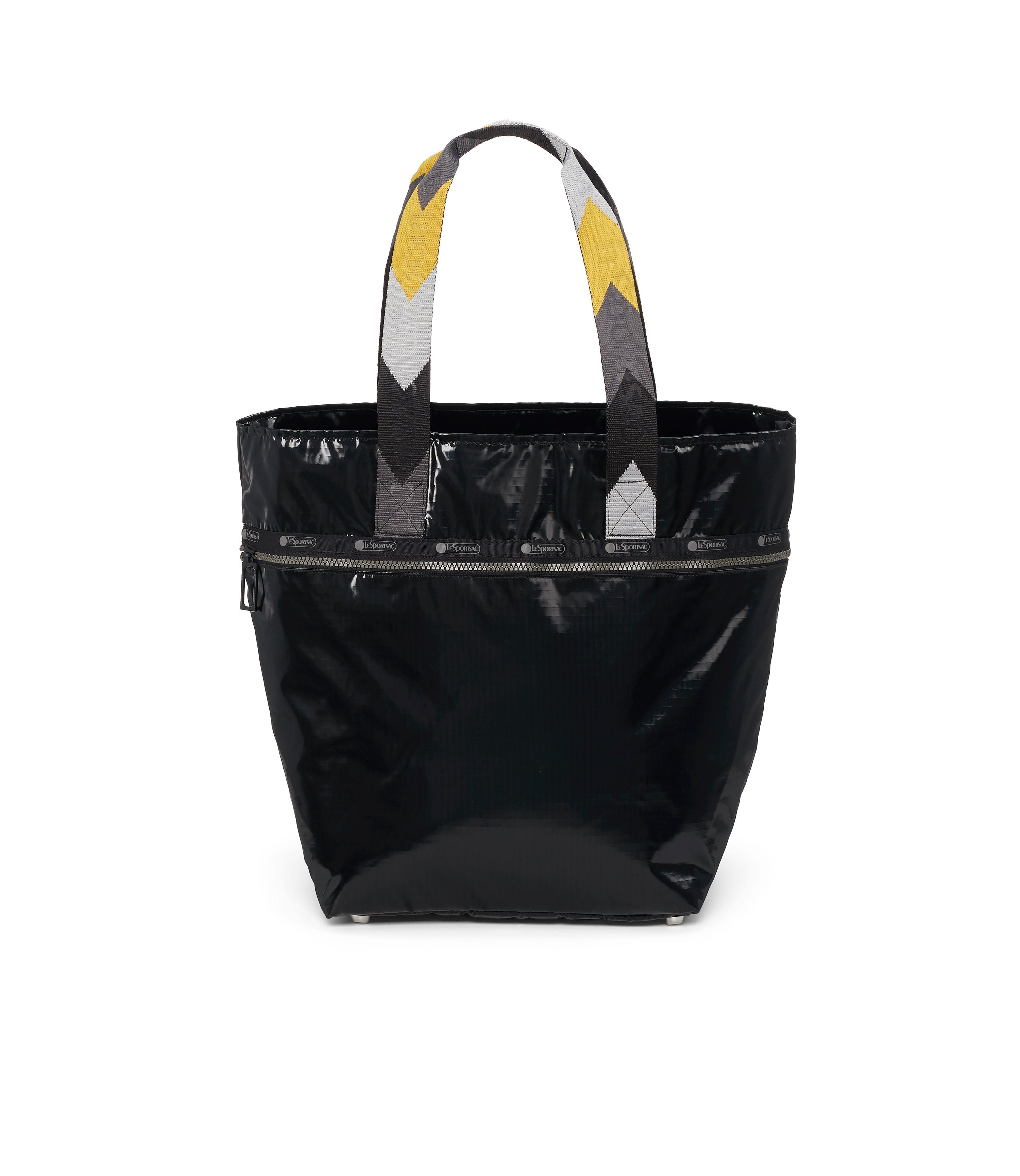 Large Elle Tote, Women's Tote Bags & Tote Purses, Carry-on, LeSportsac, Black Arrow Liquid Patent