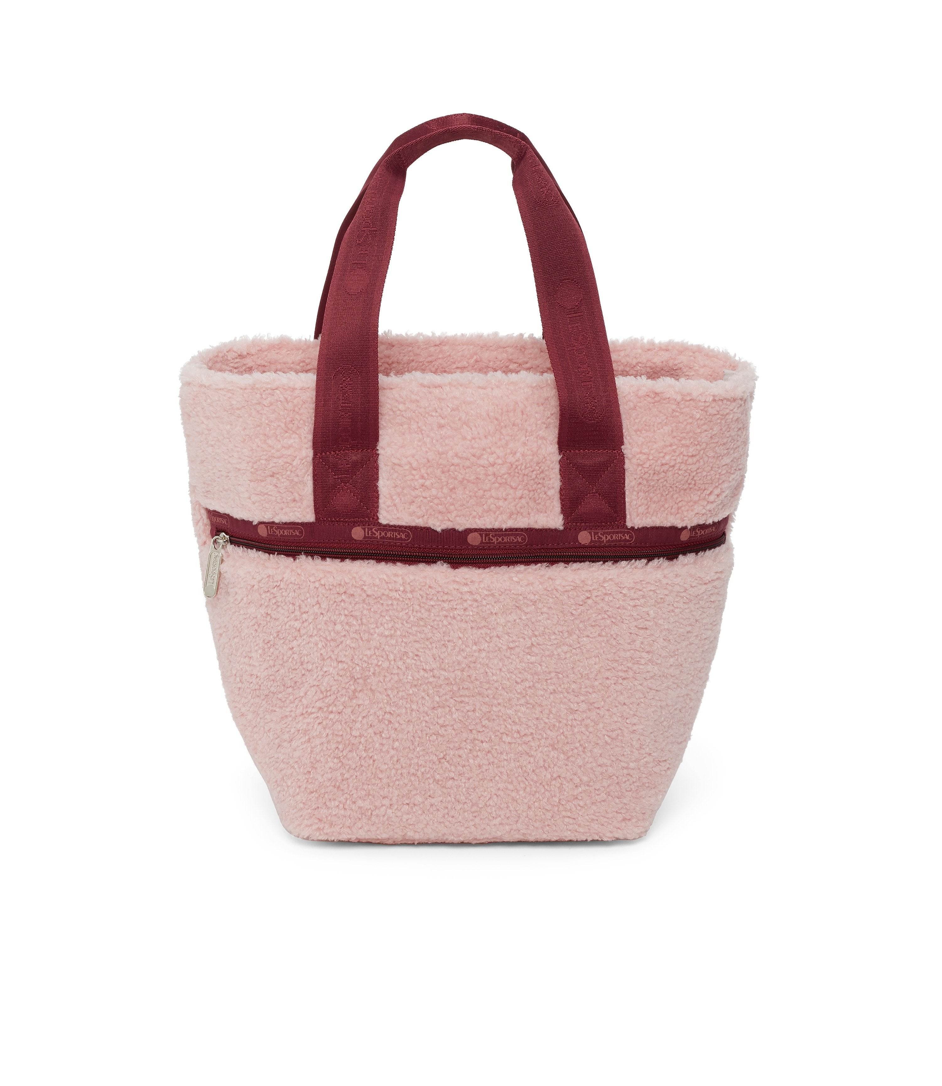 Small Elle Tote, Nylon Tote Bags, LeSportsac, Pink Sherpa