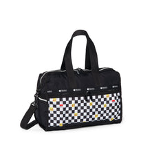 Pokemon - Deluxe Medium Weekender - Weekenders - Pikachu Check Pocket - Checkered-Pouch- Back View