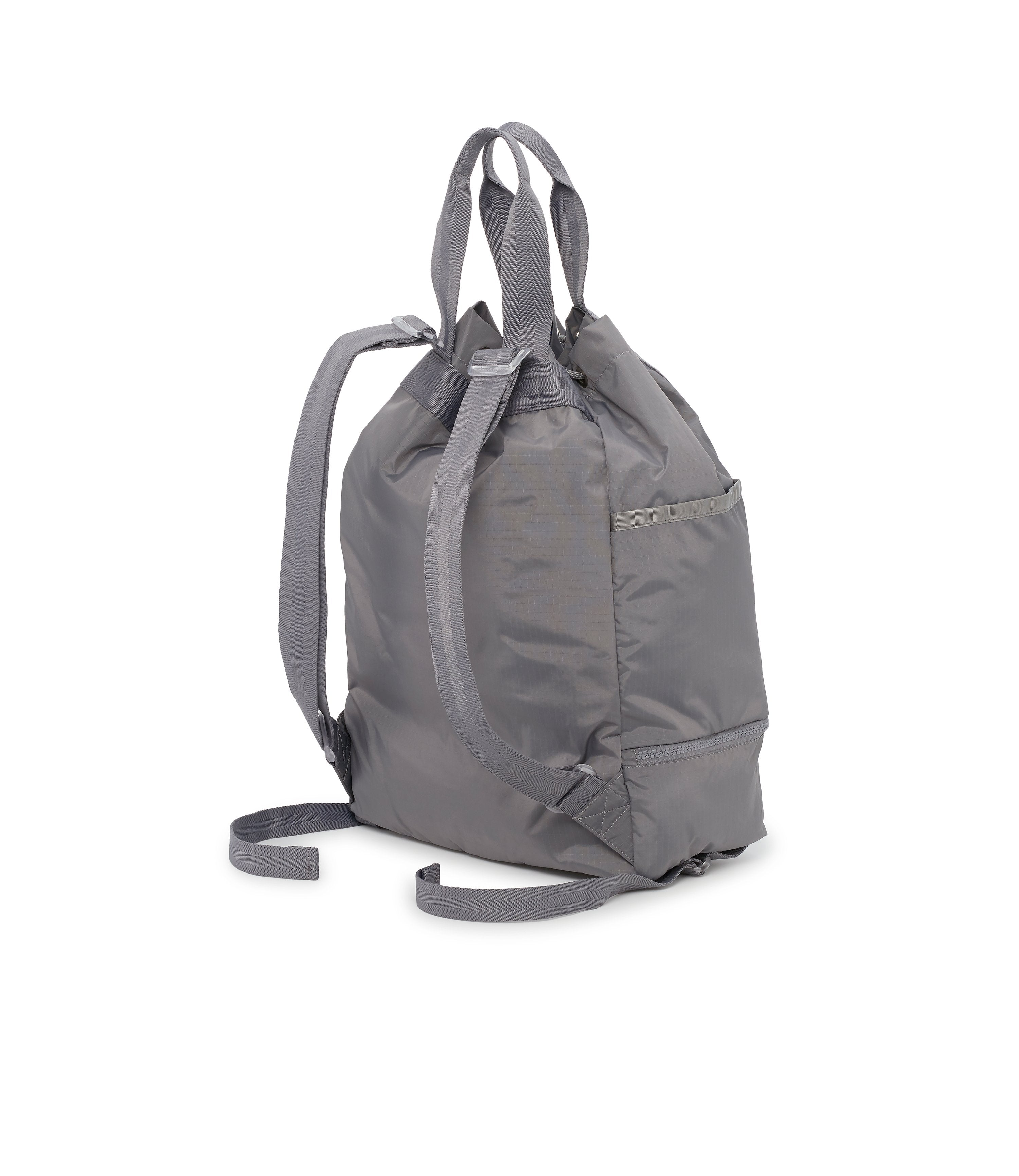 Active Backpack, Back Image, Backpack Straps, Handle Straps, Gray