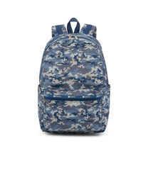 Essential Backpack 45, Water Resistant Backpack, LeSportsac, Camo Blues print