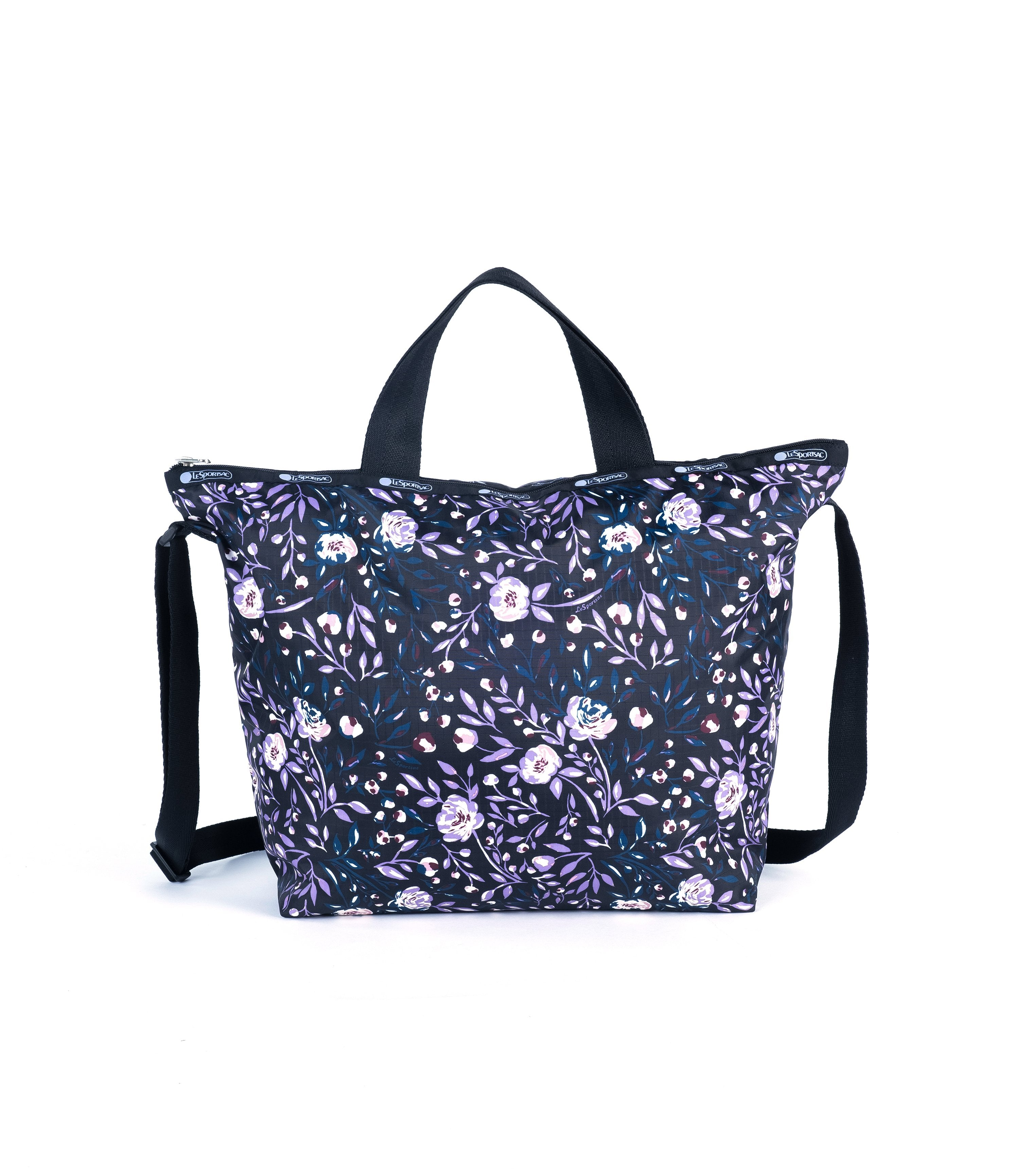 LeSportsac - Deluxe Easy Carry Tote - Totes - Dancing Roses Noir print