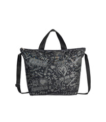 LeSportsac - Totes - Deluxe Easy Carry Tote - LeSportsac City Script print