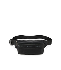 Double Zip Belt Bag, Accessories and Cosmetic Bag, Lesportsac, Black Solid