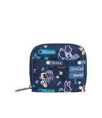 LeSportsac - Accessories - Claire Wallet - Neon Nights print