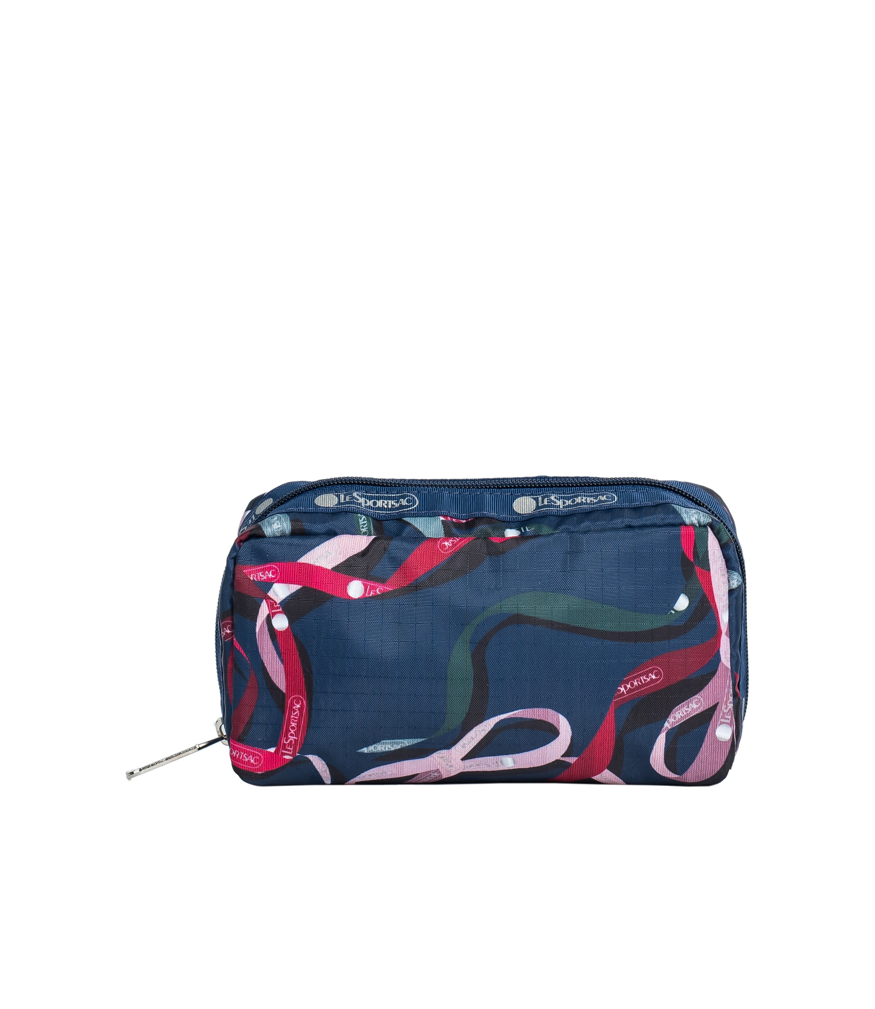 LeSportsac - Accessories - Rectangular Cosmetic - Ribbons Navy print