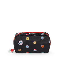 Pokémon Rectangular Cosmetic-LeSportsac-Small-PokéBall-Pouch-front