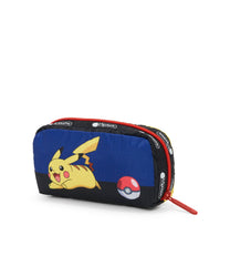 Pokemon - Rectangular Cosmetic - Accessories - Electric-Type Friend - Pikachu-Pokéball- Back Image