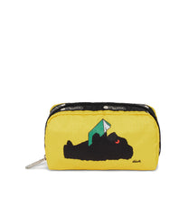 Dick Bruna - LeSportsac Rectangular Cosmetic - Accessory - Black Bear Yellow Pouch - front view