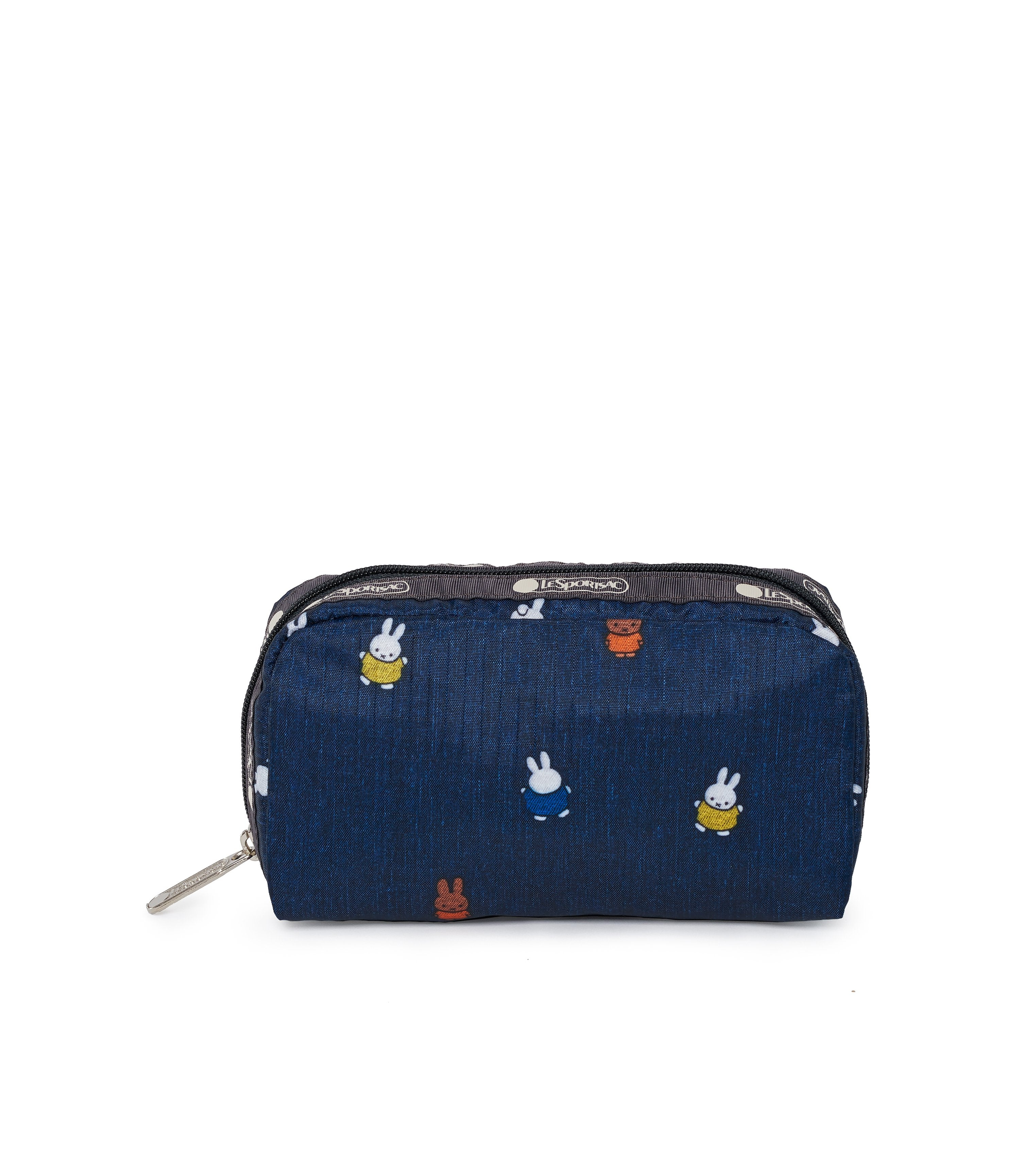 Dick Bruna - LeSportsac Rectangular Cosmetic - Accessory - Miffy and Friends - Navy -  Front View