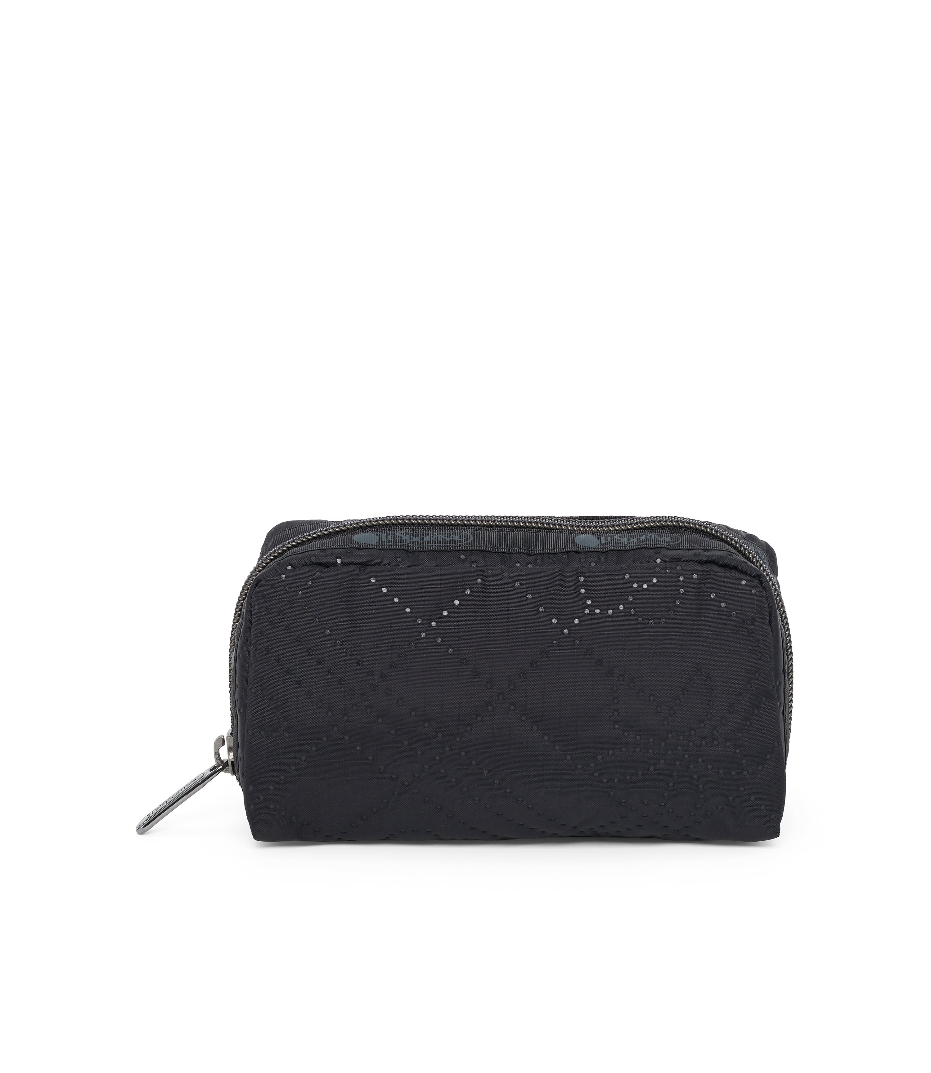 Rectangular Cosmetic, Accessories, Makeup and Cosmetic Bags, LeSportsac, Fleur De Check Black Debossed