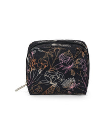 Square Cosmetic, Accessories, Makeup and Cosmetic Bags, LeSportsac, Amaranth print