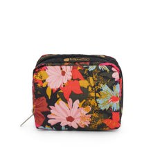 Square Cosmetic, Accessories, Makeup and Cosmetic Bags, LeSportsac, Harmonious print
