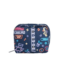 LeSportsac - Accessories - Square Cosmetic - Neon Nights print