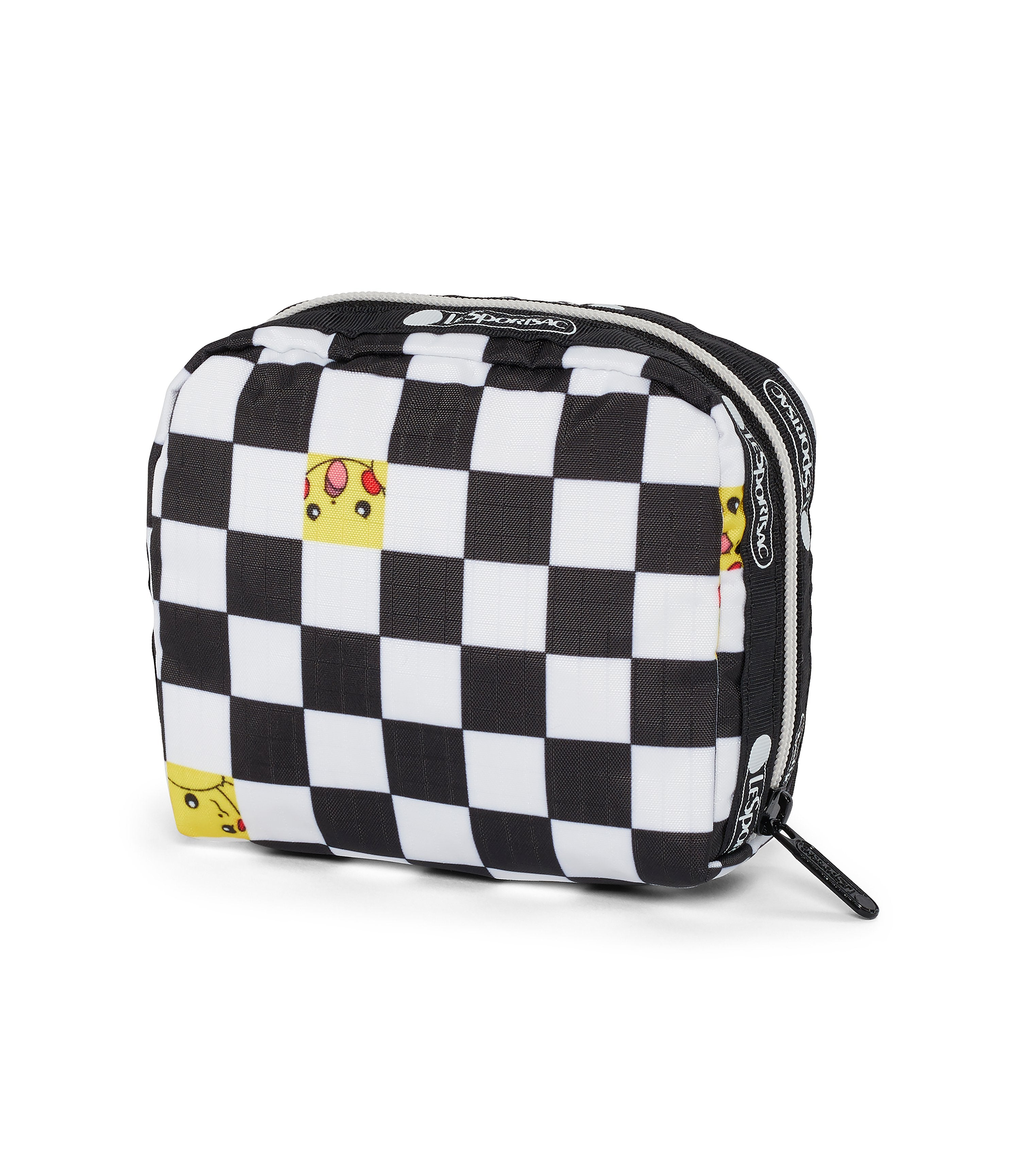 Pokémon Square Cosmetic-LeSportsac-Small-Pikachu-Pouch-front