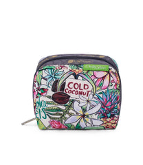 LeSportsac - Square Cosmetic - Accessories - Hawaii - Exclusive! Aloha Market print - Front View