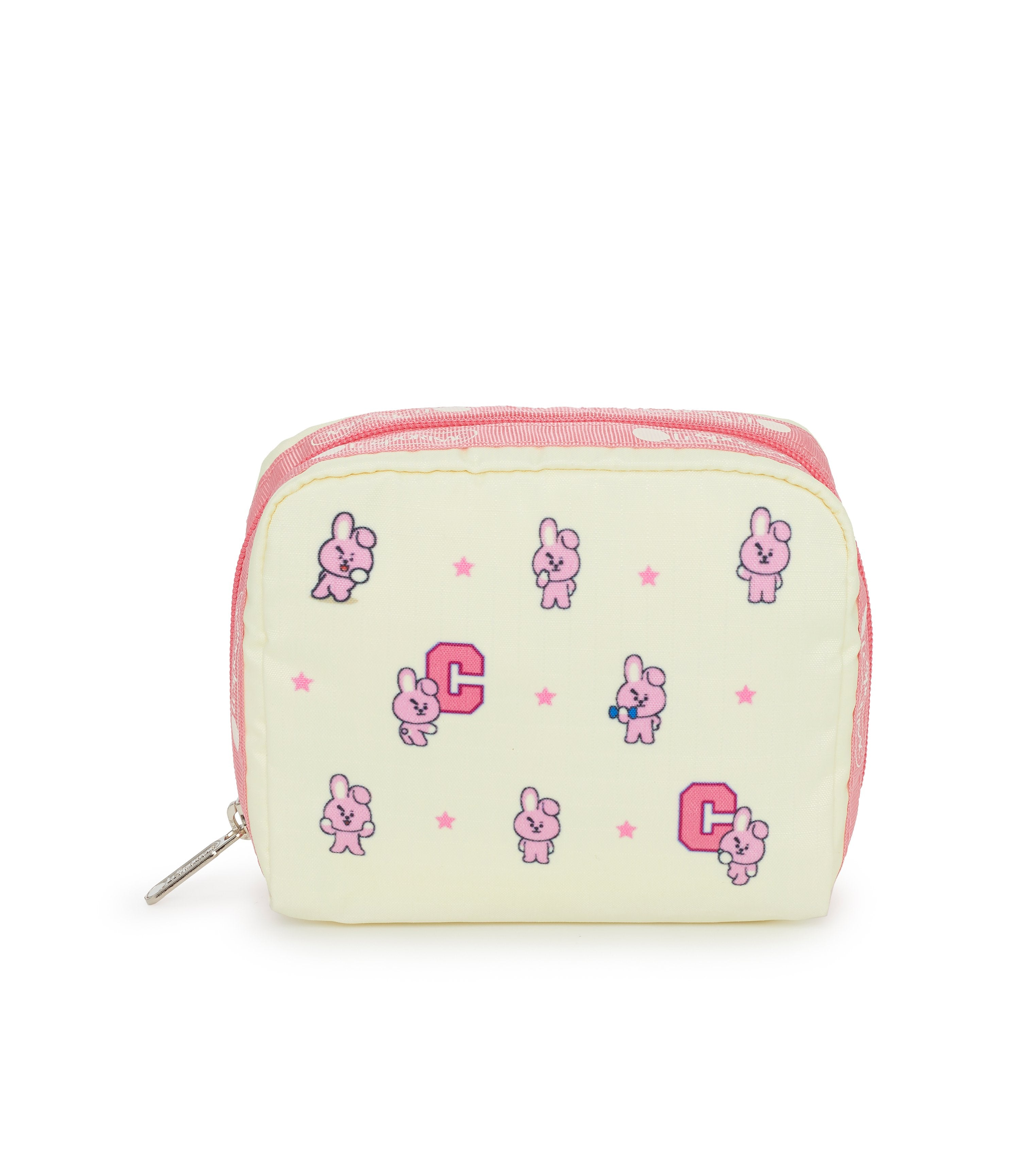 Square Cosmetic, Line Friends, BTS Cosmetic Bag and Pouch, LeSportsac, Character print, BT21 COOKY