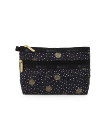 Cosmetic Clutch, Accessories and Cosmetic Bag, LeSportsac, Black Sand print
