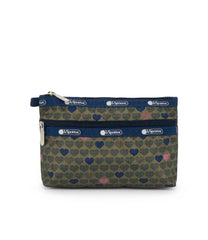 Cosmetic Clutch, Accessories and Cosmetic Bag, LeSportsac, Exclusive! Wait For Love print