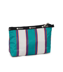 Dick Bruna - LeSportsac Cosmetic Clutch - Accessory - Green Stripe Miffy -  Back Image